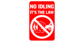 no idling allowed sign template