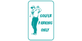 Golf Course Parking Signs
