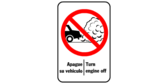turn engine off sign template