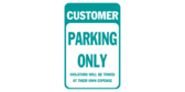 bank parking only sign template
